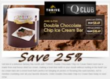 Thrive Life June Q-pon Special Freeze Dried Chocolate Chip Ice Cream